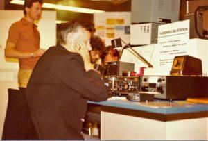Das Gründungsmitglied HB9NL, Frank, als CW-Operator am TR-7