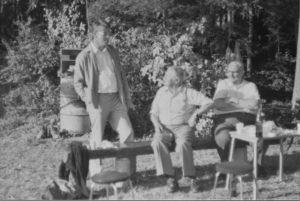 Drei Urgesteine der Sektion Luzern vlnr HB9ZY, Gody / HB9BQ (BierQuelle) Josef und HB9JO, Sepp auf einem Bild vereint.